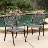 Outdoor Bronze Cast Aluminum Dining Chairs (Set of 2) - NH802003