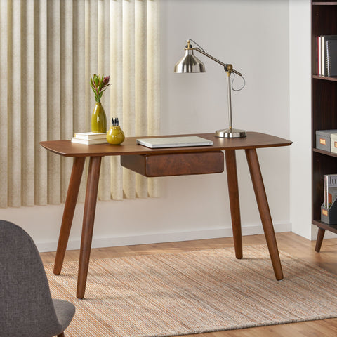 Wood Study Table with Faux Wood Overlay - NH421103