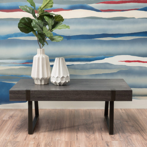 Black Oak Wood Coffee Table - NH789992