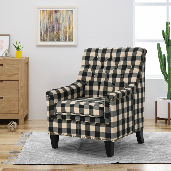 Fabric Tufted Club Chair - NH465503
