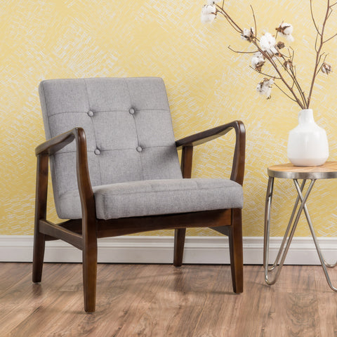French-Style Contemporary Fabric Club Chair - NH070003