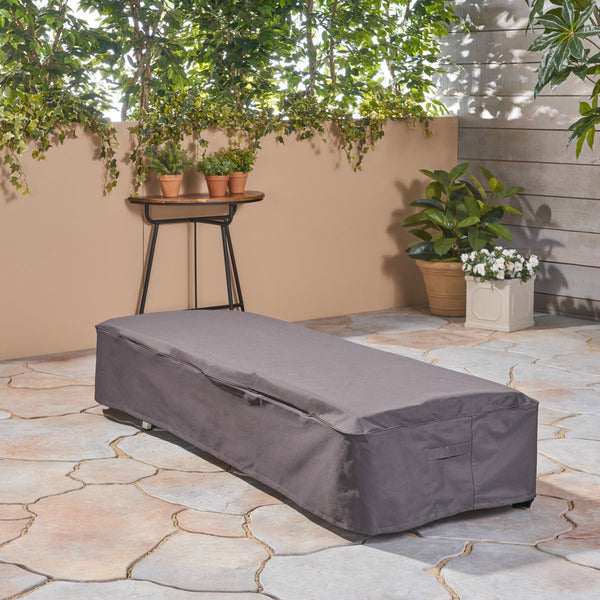 Outdoor Waterproof Chaise Lounge Cover, Gray - NH950503
