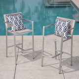 Outdoor Mesh 29.50 Inch Barstools with Rust-Proof Aluminum Frame - NH852403