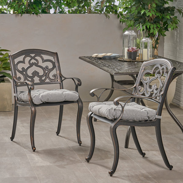 Outdoor Dining Chair with Cushion (Set of 2) - NH411013