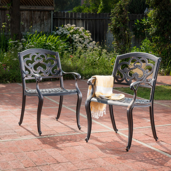 Outdoor Cast Aluminum Dining Chairs (Set of 2) - NH086003