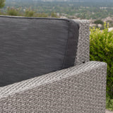Outdoor Wicker Sofa Set with Water Resistant Cushions - NH877003