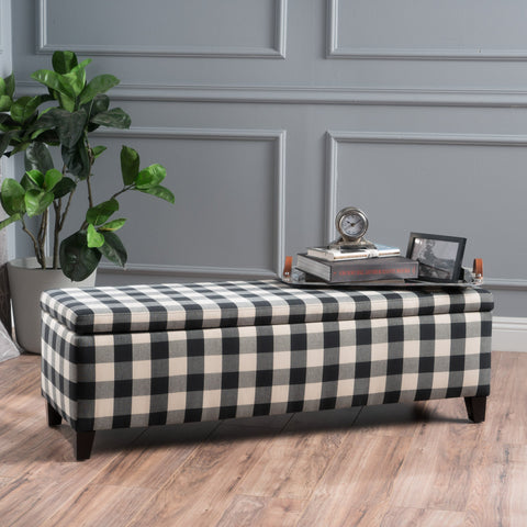 Fabric Rectangle Storage Ottoman Bench - NH307003