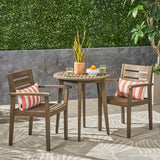 Outdoor 3 Piece Acacia Wood Bistro Set - NH572503