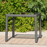 Outdoor Wicker Dining Table with Glass Top - NH308003