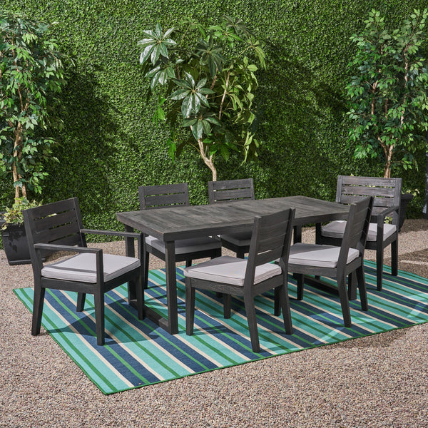 Outdoor 6-Seater Acacia Wood Dining Set - NH905603
