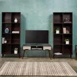 Mid Century 3 Piece TV Stand & Bookcase Set - NH878903