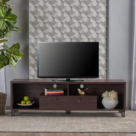 Mid Century Modern Finished Fiberboard Entertainment Unit