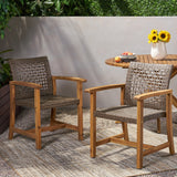 Outdoor Acacia Wood Dining Chair (Set of 2) - NH333013