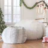 Modern 3 Foot Faux Fur Bean Bag (Cover Only) - NH173313