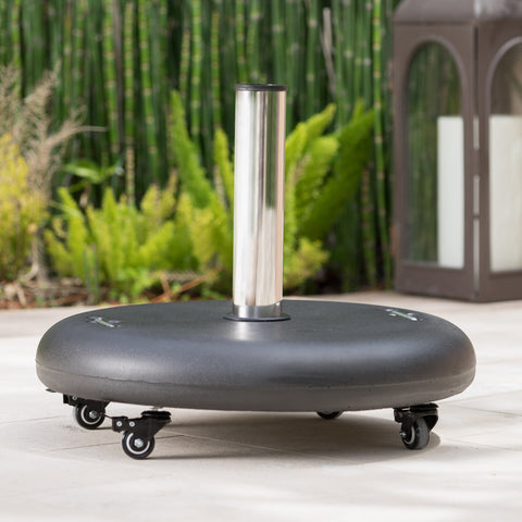 88lbs Umbrella Base w/ Wheels & Stainless Steel Pole Handle - NH314003