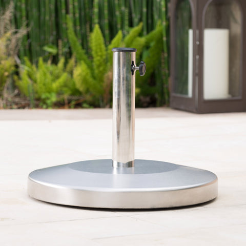 50lbs Stainless Steel Round Umbrella Base - NH414003