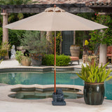Outdoor 55lbs Green Frog Umbrella Base - NH614003
