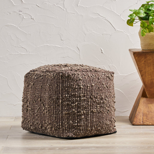 Handcrafted Boho Fabric Pouf - NH376992