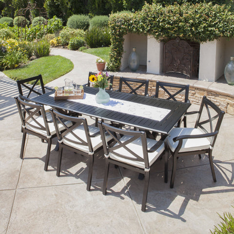 Outdoor Dining Sets Tagged Cast Aluminum Noble House Furniture