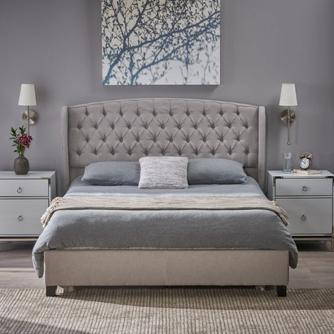 Fully Upholstered Fabric Queen Bed Set - NH462003