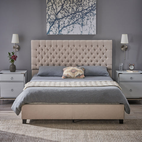 Fully Upholstered Fabric Queen Bed - NH762003