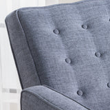 Mid Century Modern Tufted Back Fabric Recliner - NH495003
