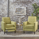 Mid-Century Modern Tufted Back Fabric Recliner (set of 2) - NH673103
