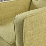 Mid-Century Modern Tufted Back Fabric Recliner - NH173103