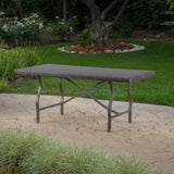 Outdoor Multibrown Wicker Dining Table - NH945003