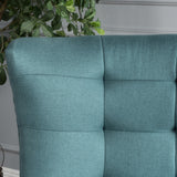 Mid Century Modern Dark Teal Fabric Accent Chair - NH887003