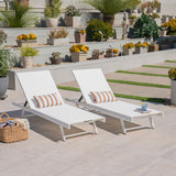 Outdoor Aluminum and Mesh Chaise Lounge - NH899403