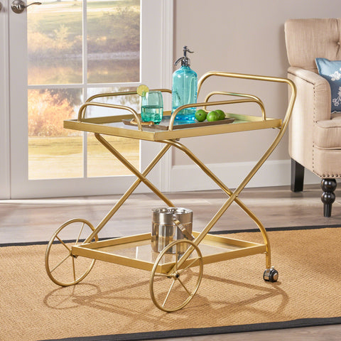 Traditional Iron and Glass Bar Cart - NH174403