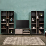 Mid Century 3 Piece TV Stand & Bookcases Set - NH278903