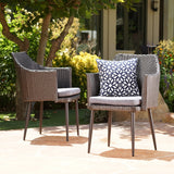 Outdoor Wicker Dining Chairs with Water Resistant Cushion (Set of 2) - NH625103
