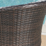 Outdoor 5 Piece Wicker Bar Set with Water Resistant Cushions - NH518203