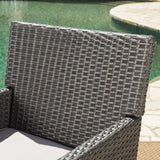 Outdoor Wicker Dining Chairs with Water Resistant Cushions (Set of 2) - NH433203