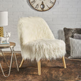 Shaggy Faux Fur Accent Chair - NH826203