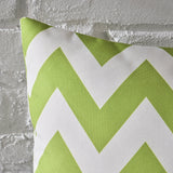 Indoor Zig Zag Striped Water Resistant Square Throw Pillow - NH738203