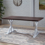 Rustic Farmhouse Acacia Wood Dining Table - NH909603