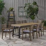 Outdoor Acacia Wood 8 Seater Dining Set - NH446903