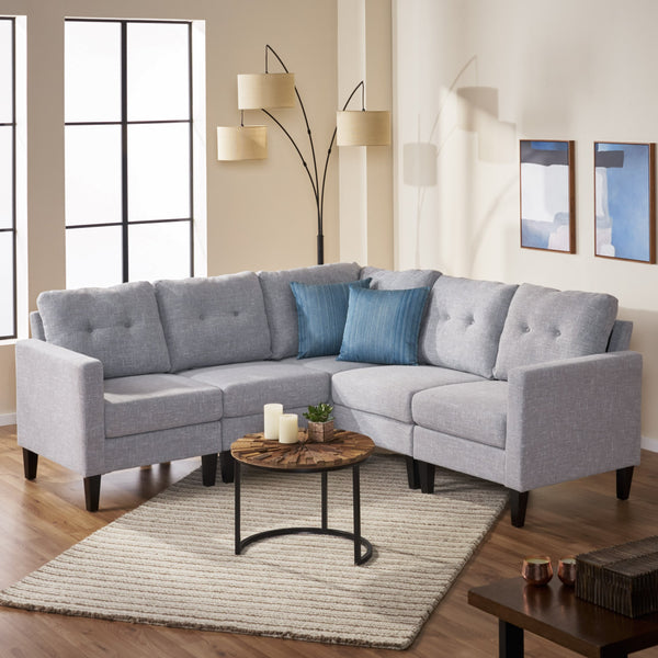 Mid Century Modern Sectional Sofa Set - NH985503