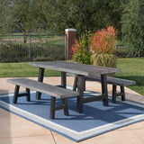 Outdoor 3 Piece Light Weight Concrete Picnic Set - NH287303