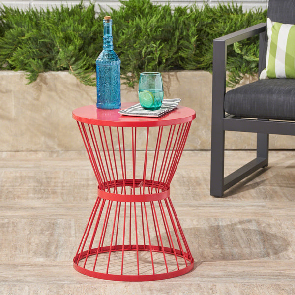 Fabulous Outdoor 16 Inch Iron Side Table Nh921403 Noble House Caraccident5 Cool Chair Designs And Ideas Caraccident5Info