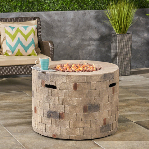 Outdoor Lightweight Concrete Circular Fire Pit - NH365603