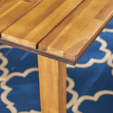 Outdoor 71-inch Acacia Wood Dining Table, Teak Finish - NH911603
