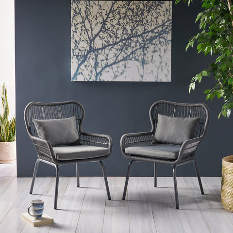 Steel & Rope PE Wicker Indoor Accent Chairs - NH115703