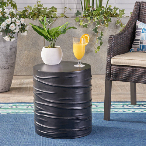 Outdoor 16-inch Light-Weight Concrete Side Table - NH388403