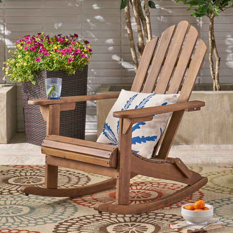 Outdoor Adirondack Acacia Wood Rocking Chair - NH873503