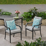 Outdoor Aluminum Dining Chairs with Cushions (Set of 2) - NH653803