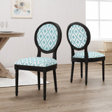 Traditional Fabric Upholstered Dining Chairs with Wood Frame (Set of 2) - NH966503